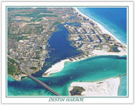 """DESTIN HARBOR""  watercolor aerial    $9.95  retail"