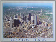 HOUSTON, TEXAS skyline  sold out  $44.95 custom print only