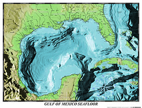 GULF OF MEXICO SEAFLOOR  $9.95 retail