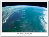PLANET EARTH Upper Gulf of Mexico    $9.95 retail